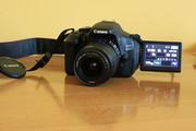 Продам Зеркальный фотоаппарат Canon 600D+объектив+карта памяти